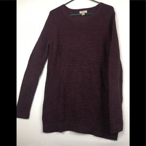 Loft plum knit sweater  crew neck size XL